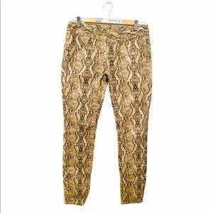 London Jean pants snake skin pattern!